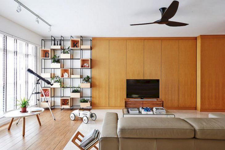Contemporary Living Room Storage Ideas 26