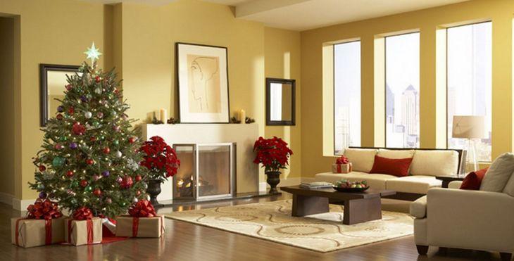 Living Room Christmas Decor 1020