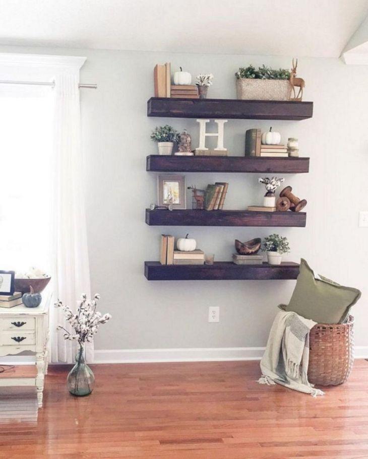 Living Room Floating Shelves Ideas 16
