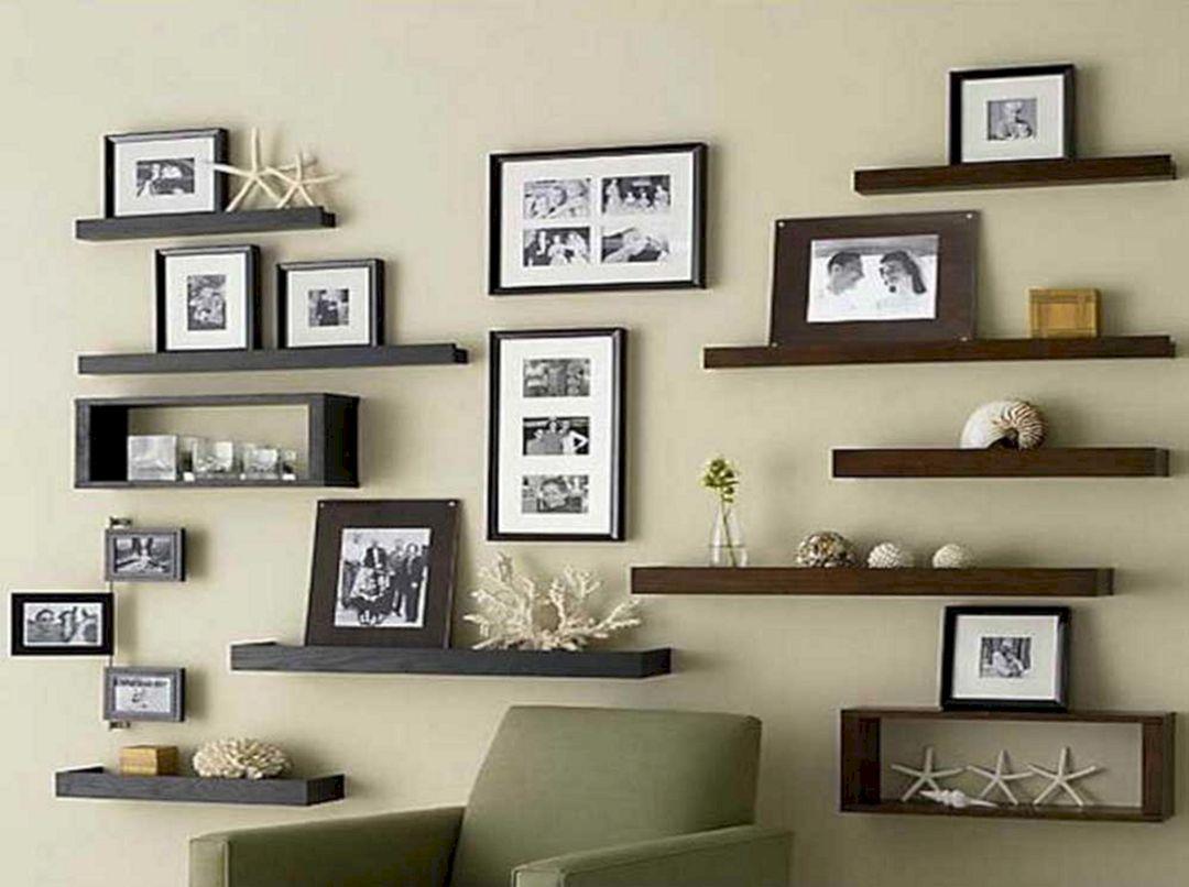 Living Room Floating Shelves Ideas 18
