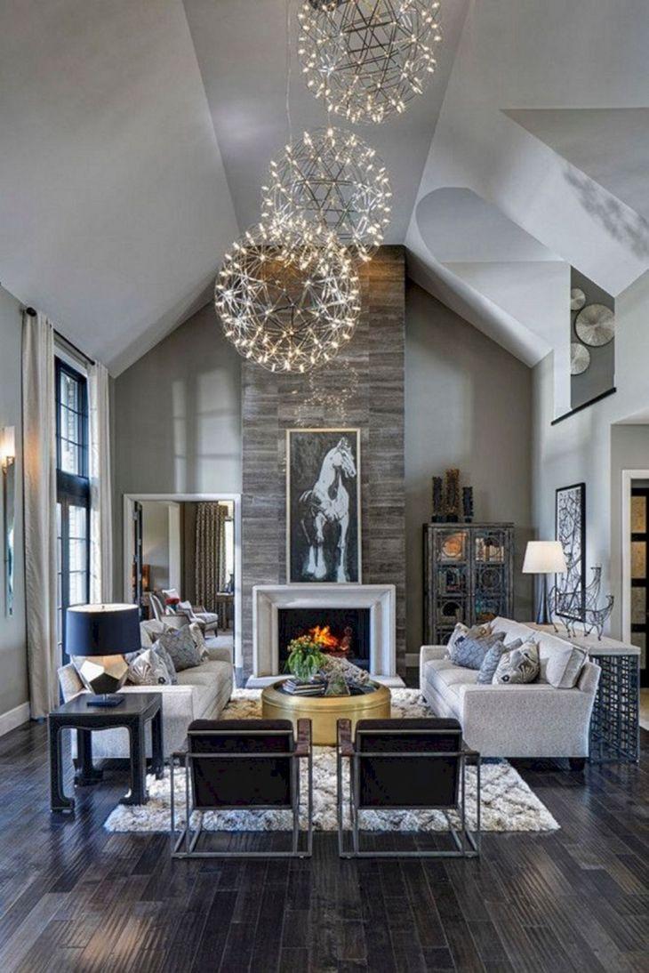 Living Room With Dark Wood Floors 130