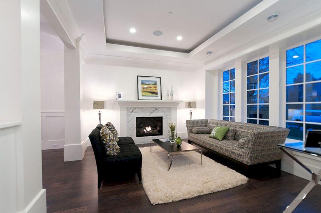 Living Room With Dark Wood Floors 150
