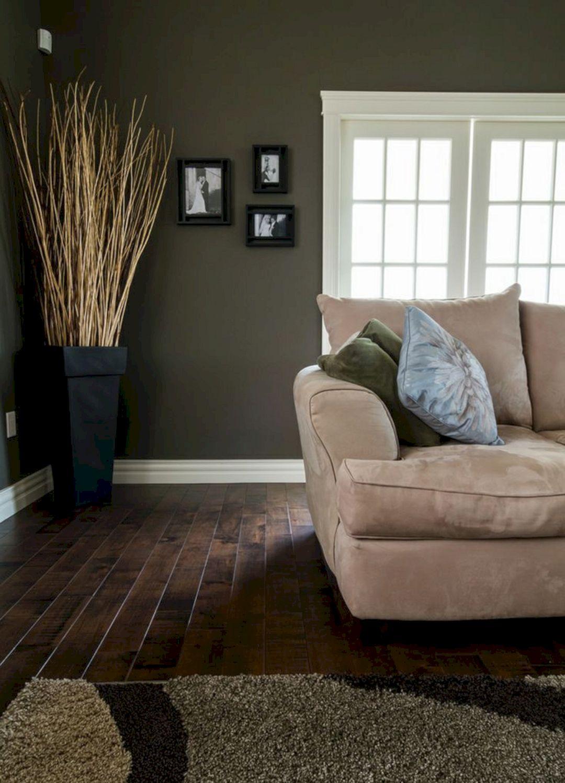 Living Room With Dark Wood Floors 160
