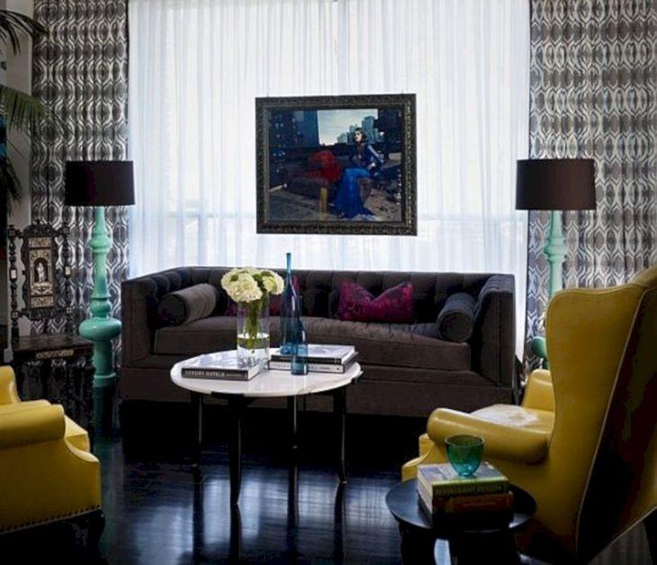 Living Room With Dark Wood Floors 170