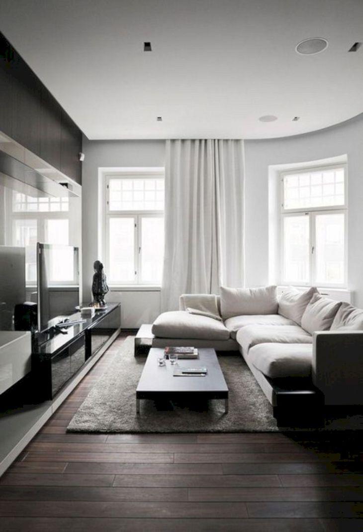 Living Room With Dark Wood Floors 240