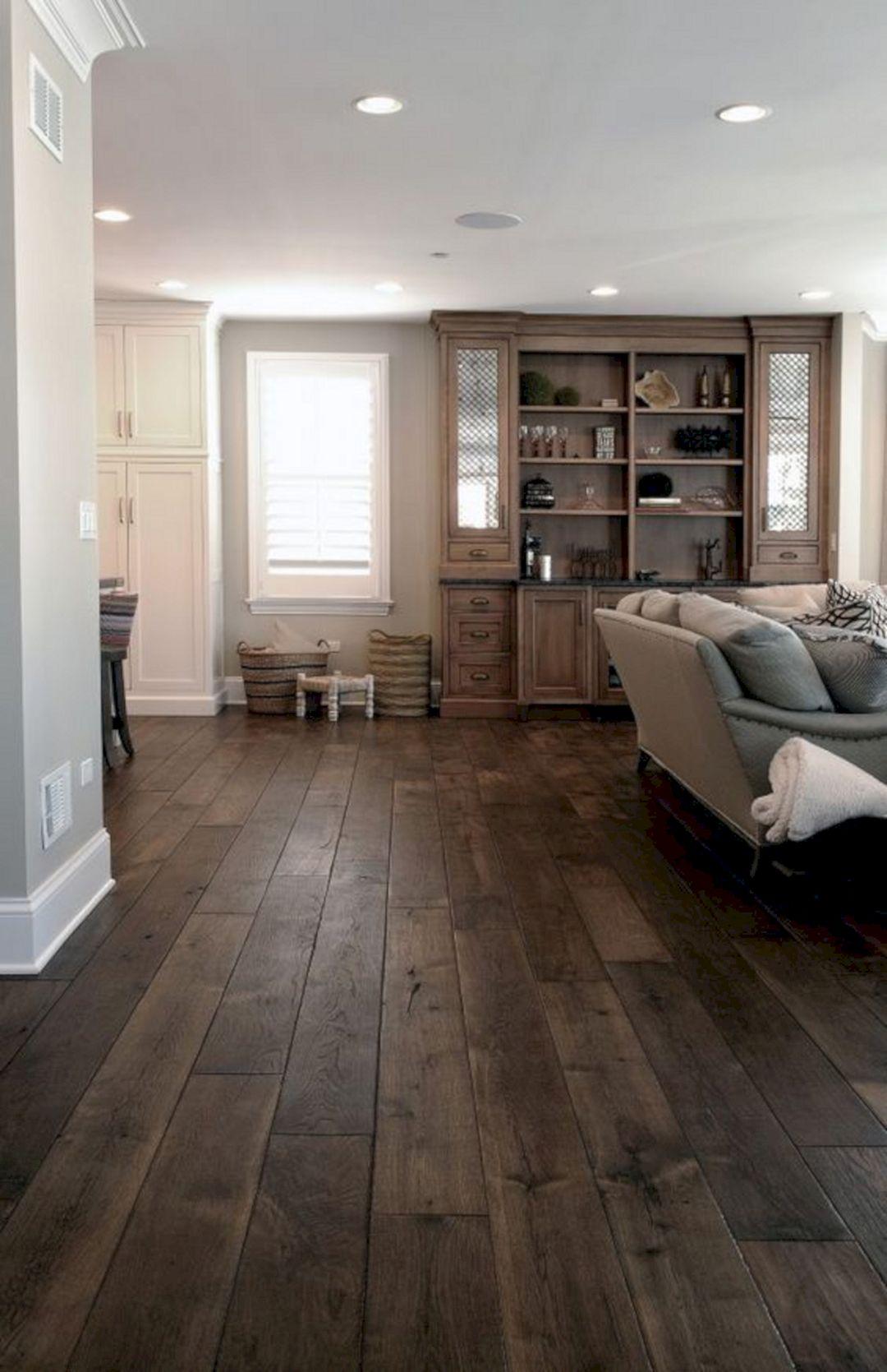Living Room With Dark Wood Floors 250