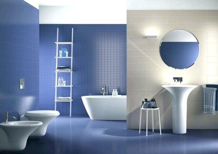 Bathroom Interior with Color Ceramic Design