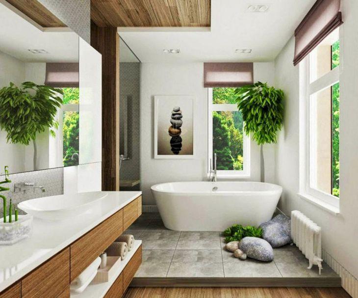 Bathroom Interior with Open Space