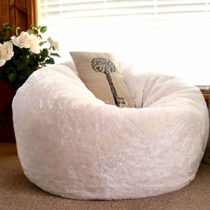 Fur Carpet Thick with Bean Bag Ideas