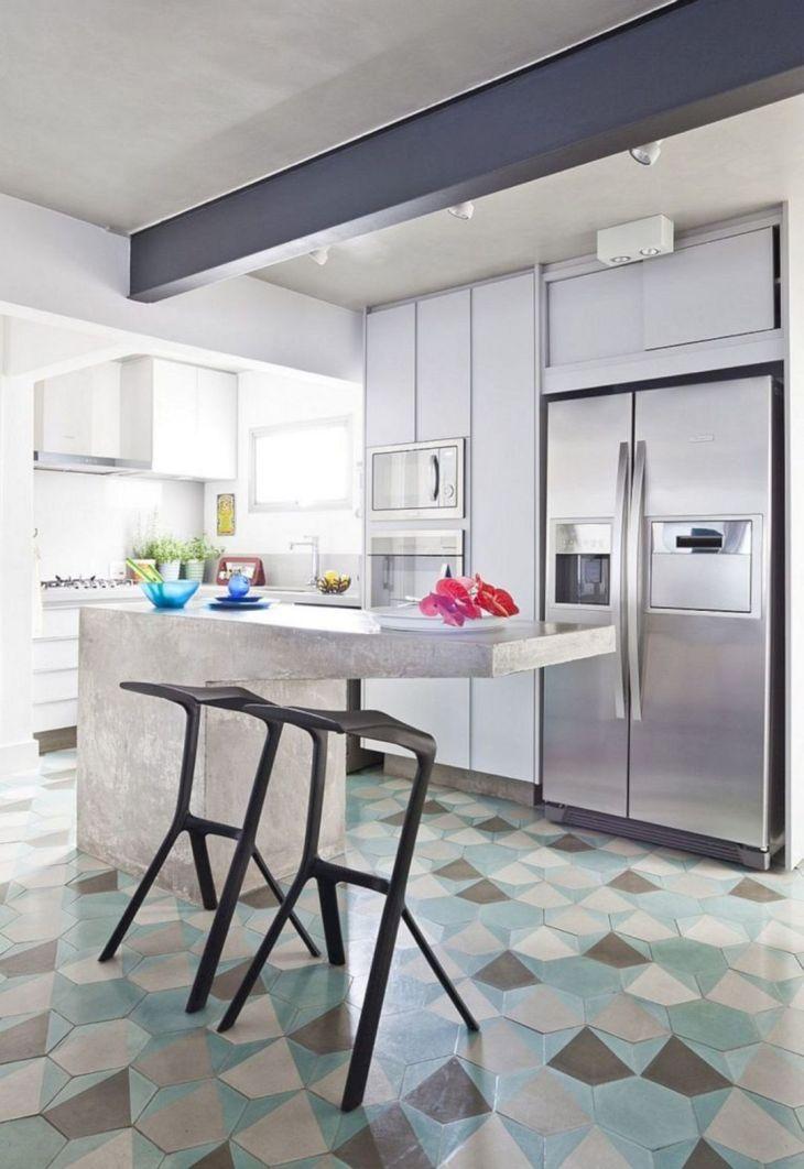 Kitchen Interior With Hexagonal Floors