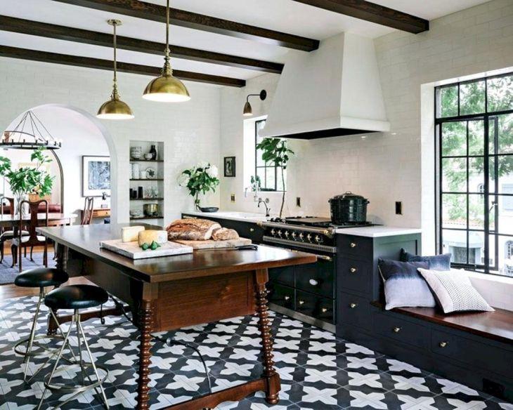 Kitchen Interiors With Geometric Floor