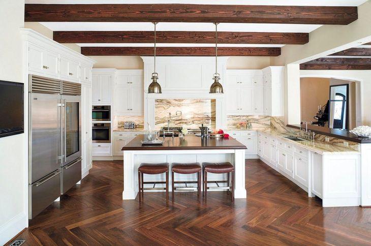 Kitchen Interiors With Herringbone Floors