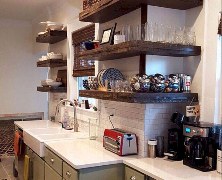 Large Minimalist Kitchen Shelve