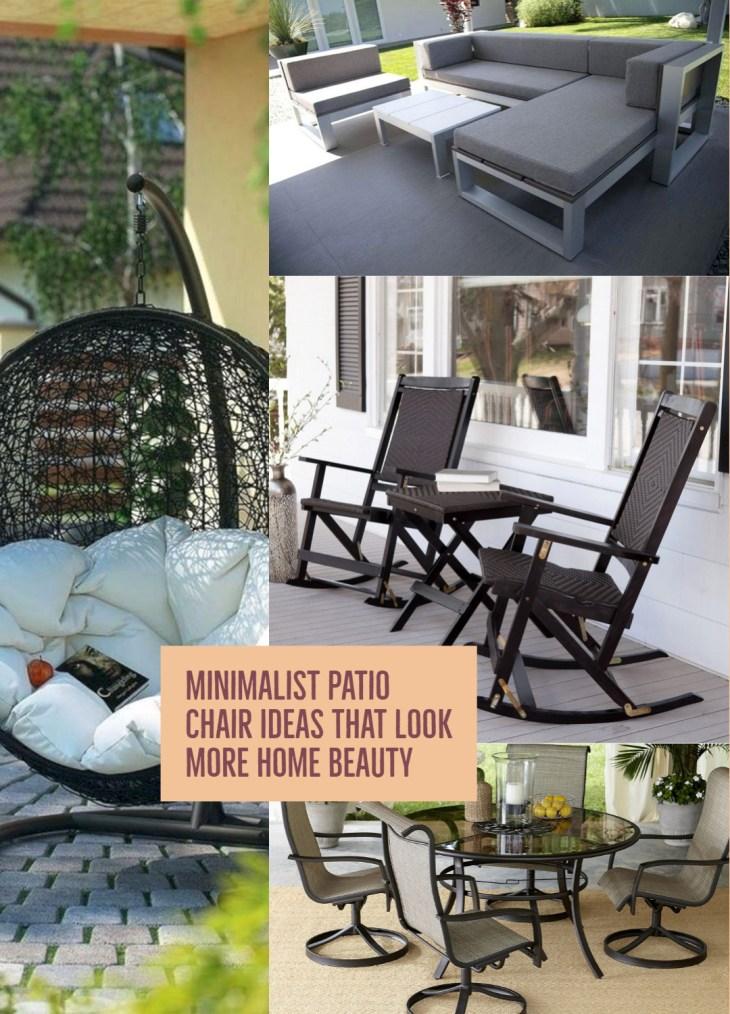 Minimalist Patio Chair Ideas