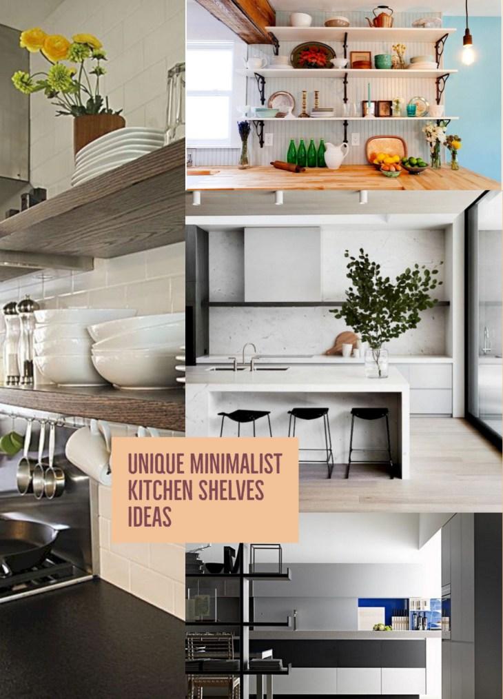 14 Unique Minimalist Kitchen Shelves Ideas That Can Be Your ...