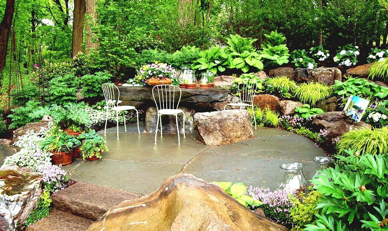 Beautiful Backyard Rock Garden Design