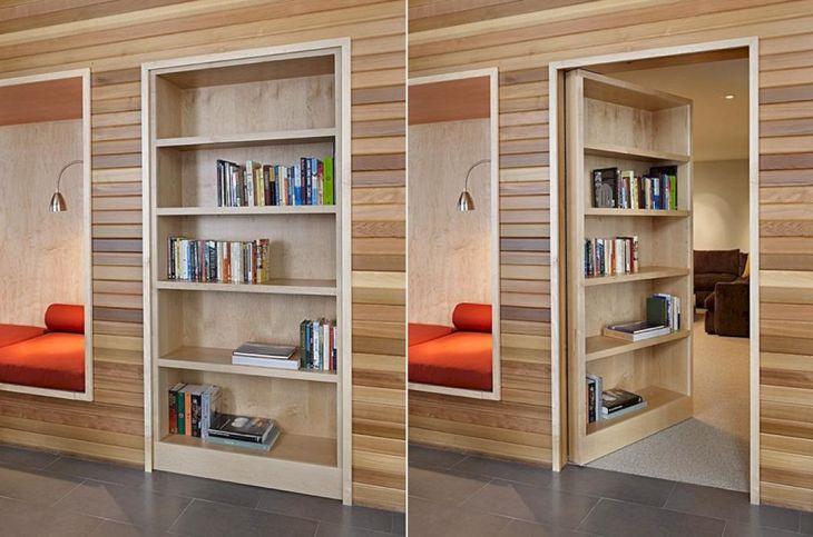 Bookshelf The Same Time a Secret Door source icreatived com
