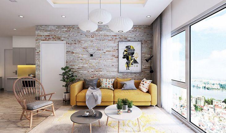Brick Wall Living Room Design Source chiquiita com