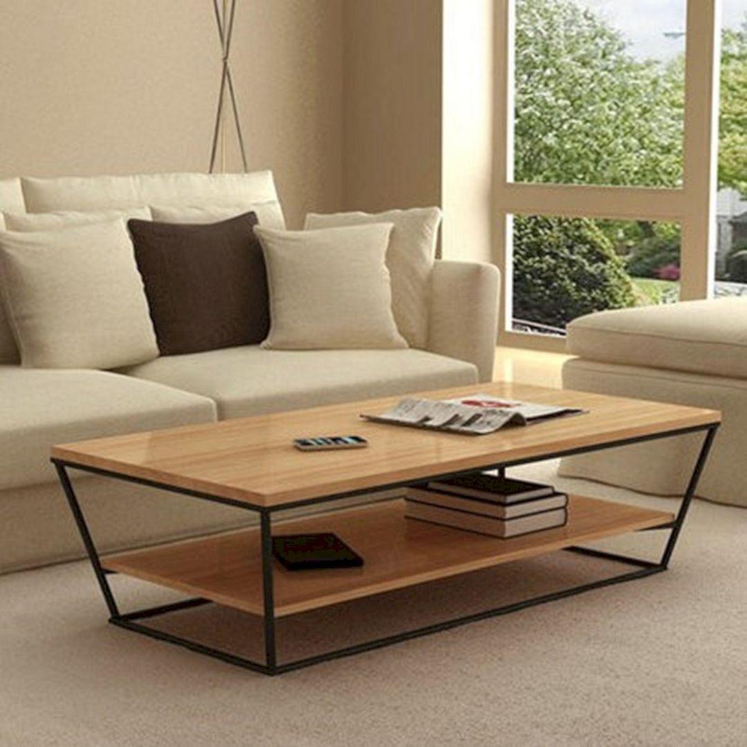 Minimalist Wood Living Room Table Ideas