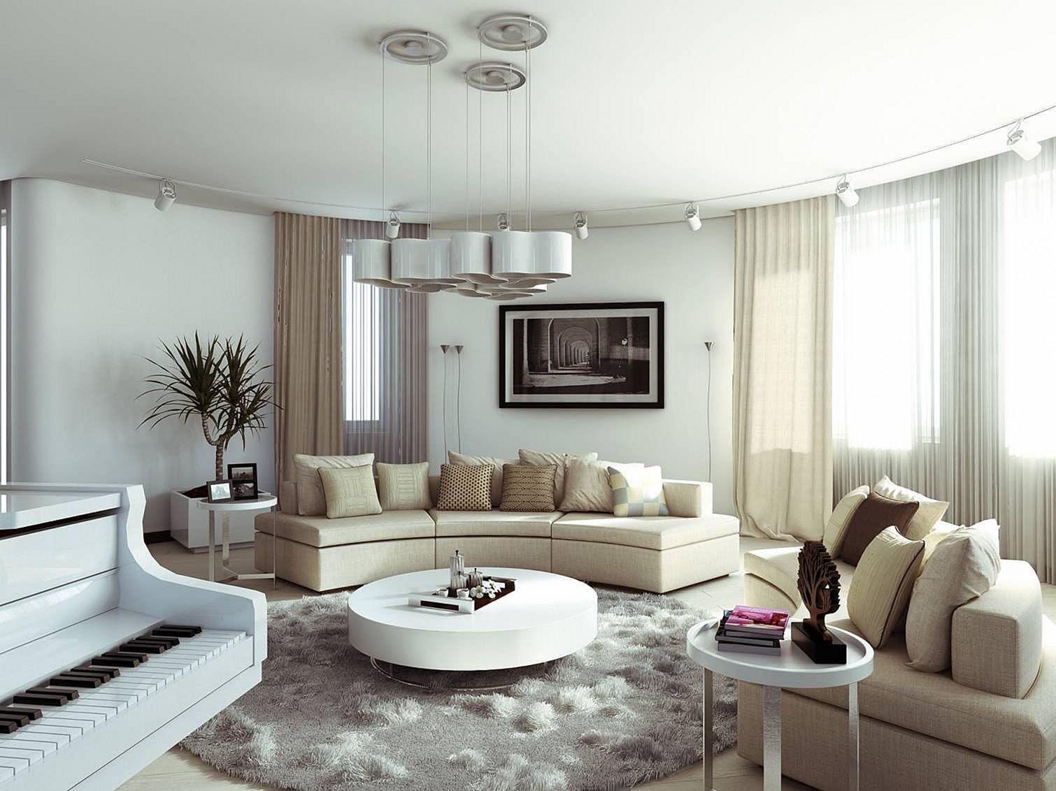 Modern Circle Living Room Table Ideas