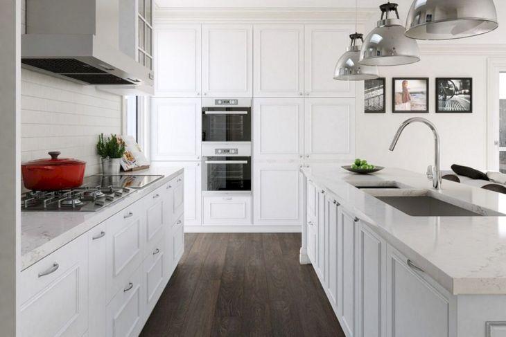 White Tiny Kitchen Set Design Ideas