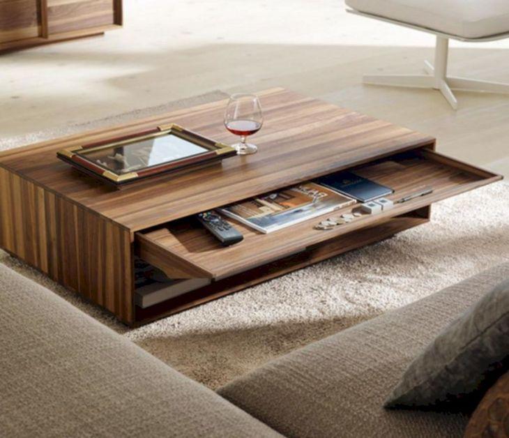 Wood Living Room Table Design