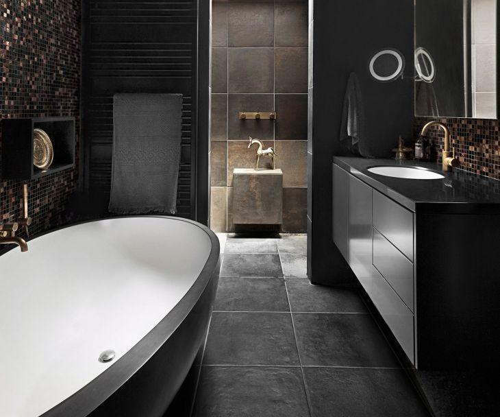 Bathroom With Black Interior