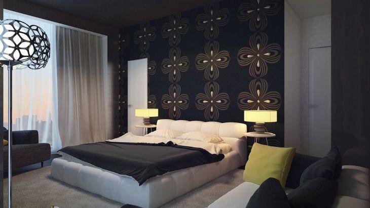 Bedroom Feature Black Wall Ideas