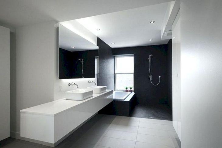 Modern White And Black Bathroom