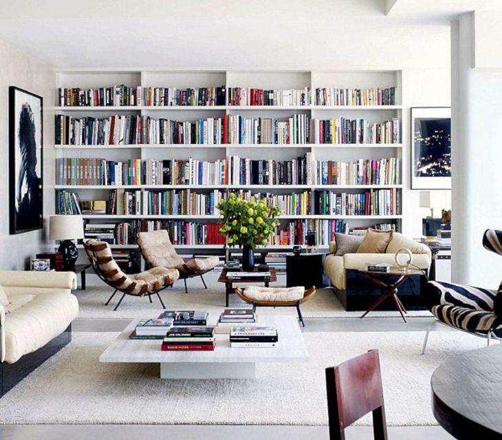 Vintage Wall Bookscase Design Ideas