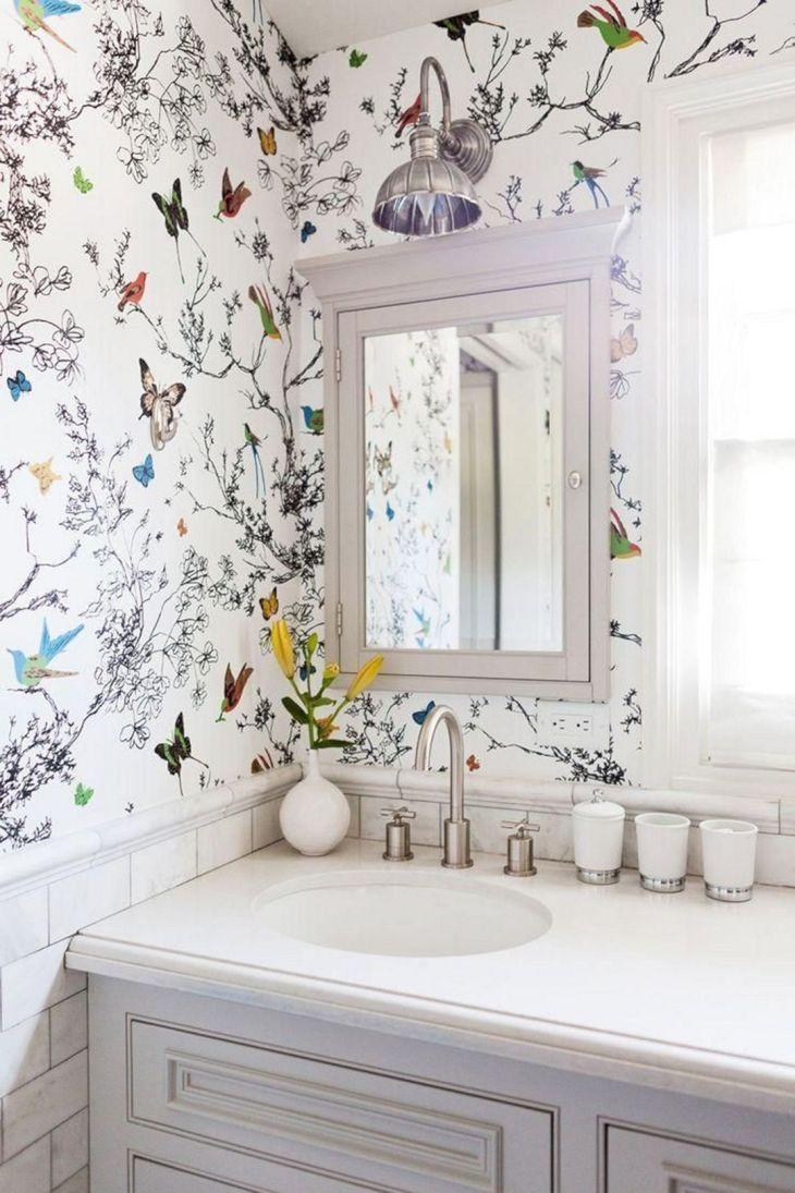 Bathroom Wall Flower Ideas