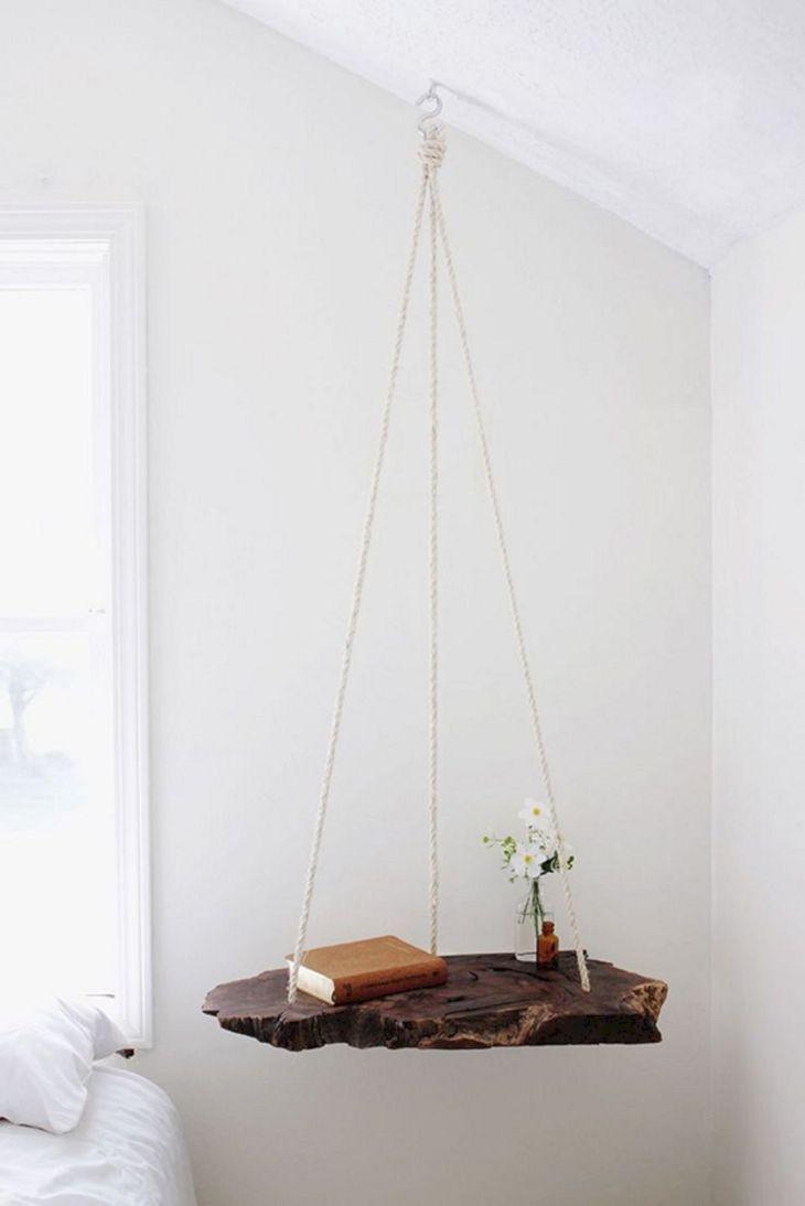 DIY Bedroom Hanging Side Table