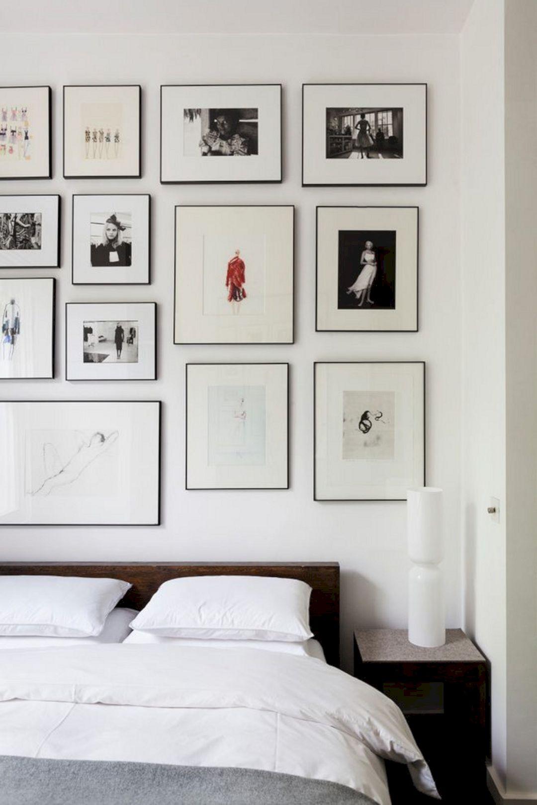 Photo Frame Wall Bedroom Design