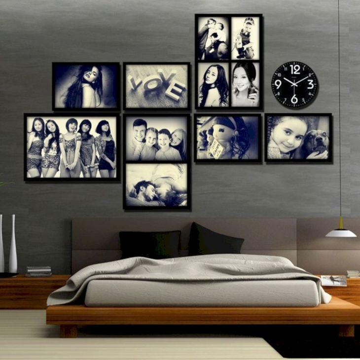 Photo Frame Wall Bedroom Ideas