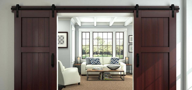 Living Room Barn Door