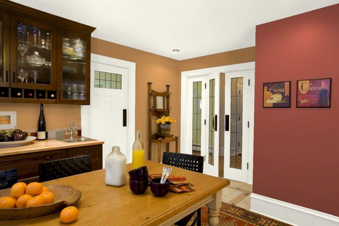 Kitchen Warm Color Combination Ideas