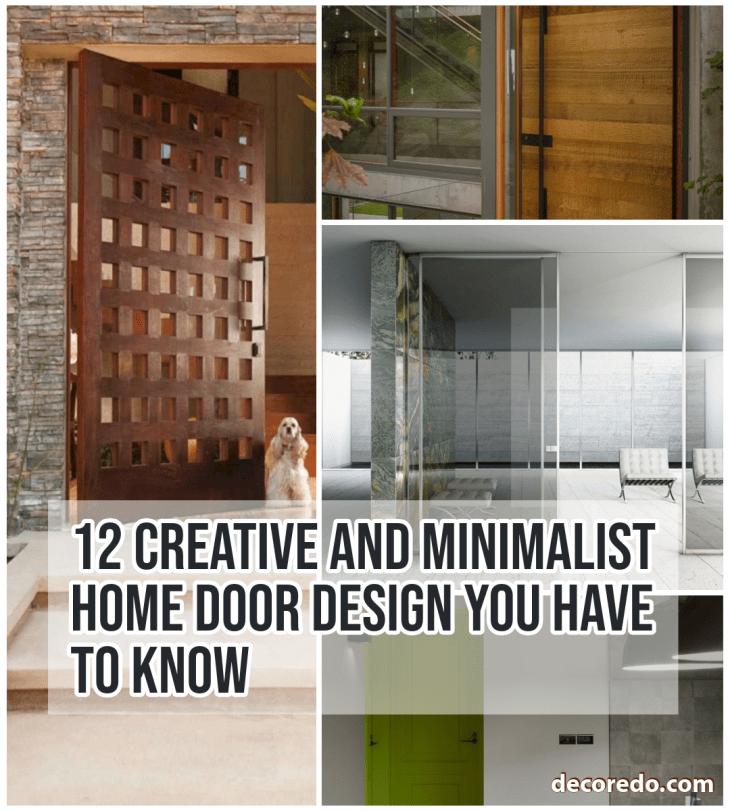 Minimalist Home Door Design You Have To Know