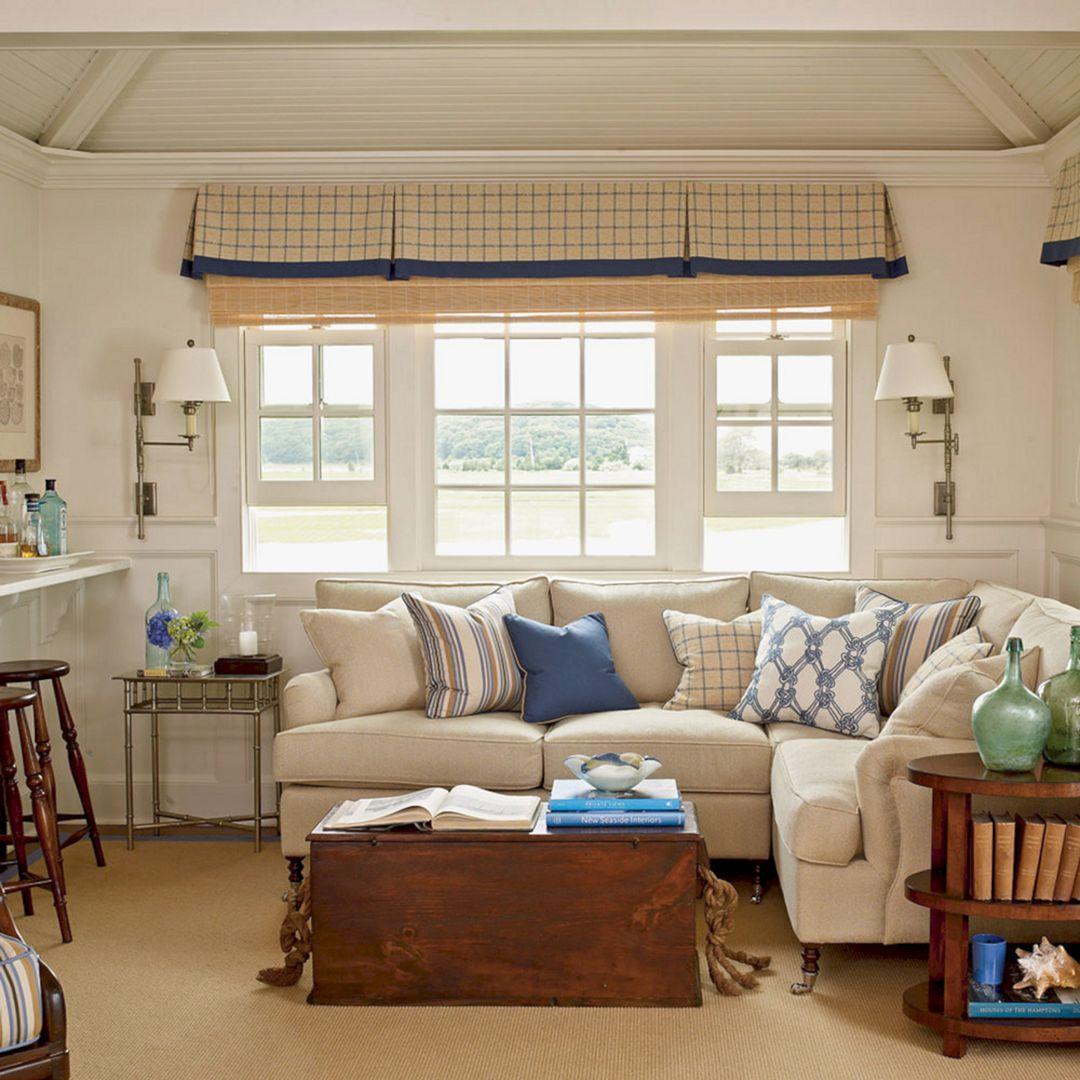 Simple Coastal Living Room