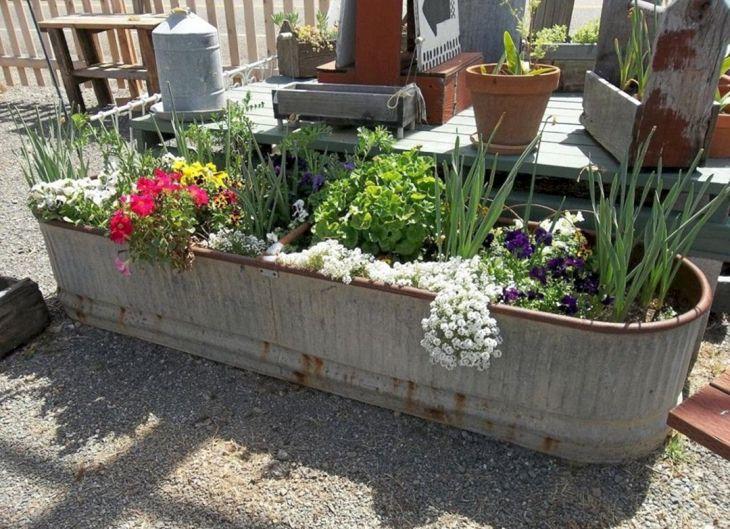 Harika DIY Konteyner Bahçe Fikirleri