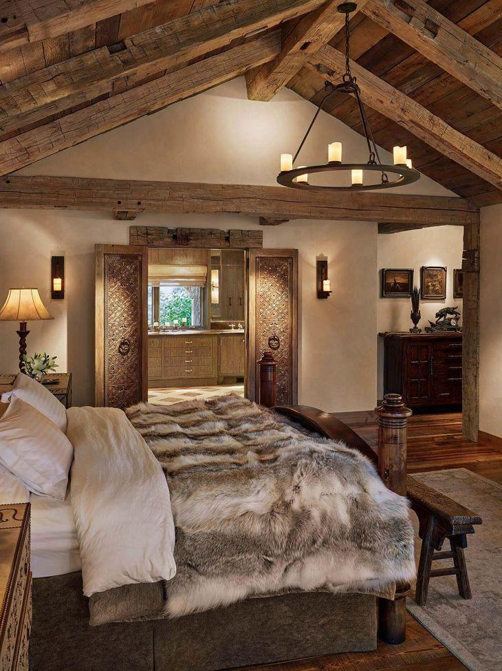 Harika Rustik Yatak Odası Dekorasyon Fikirleri