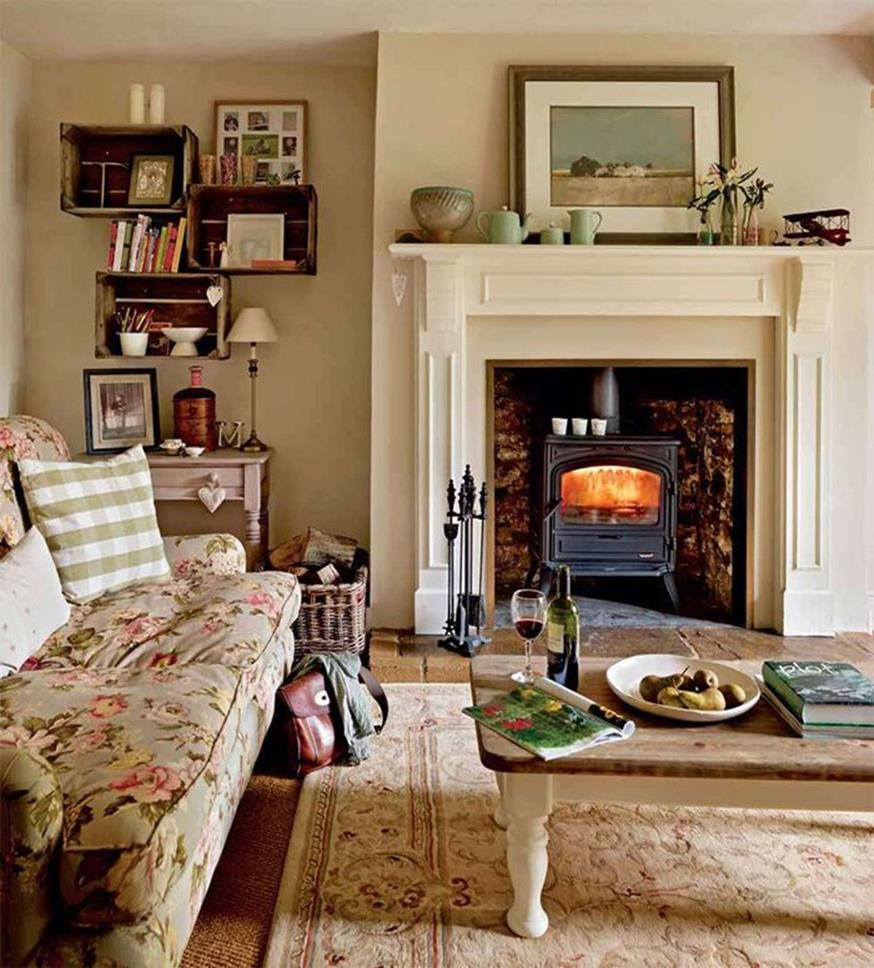 Country Style Living Room Furniture Ideas 2