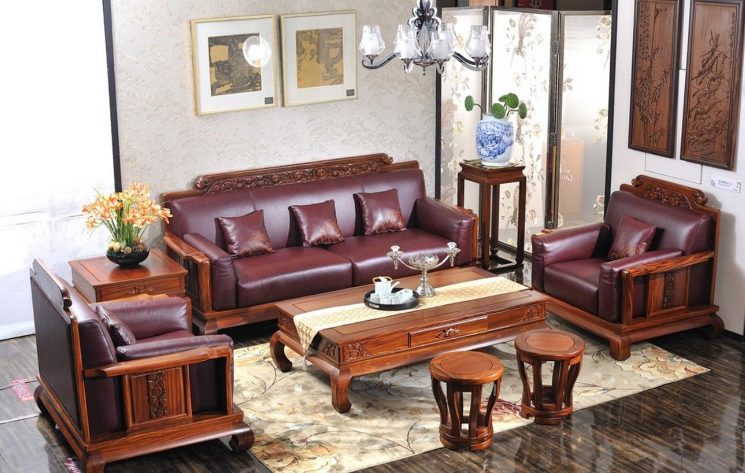 Country Style Living Room Furniture Ideas 21