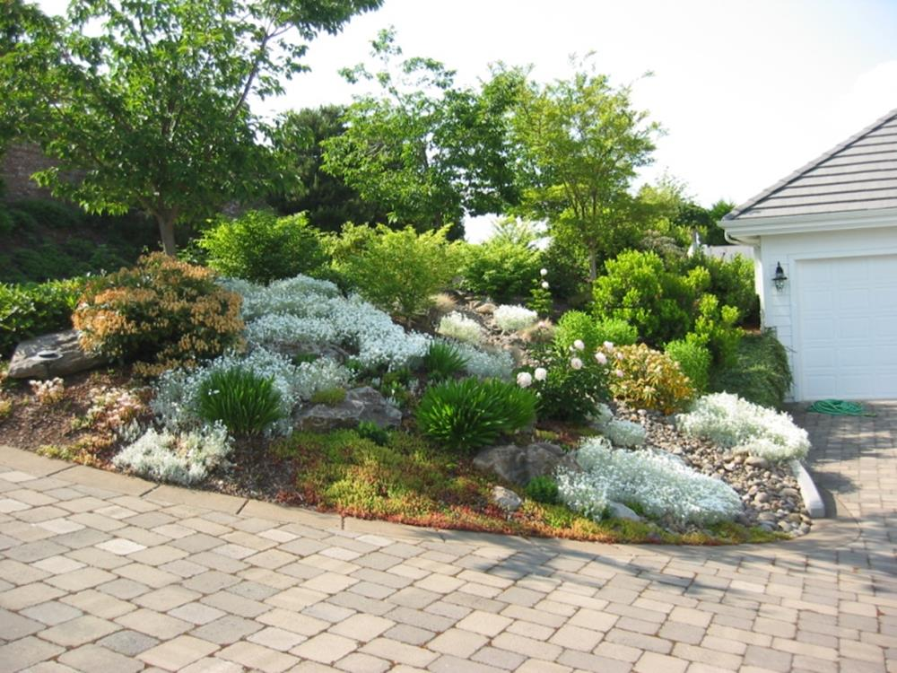 Front Yard Landscaping With Rocks 15