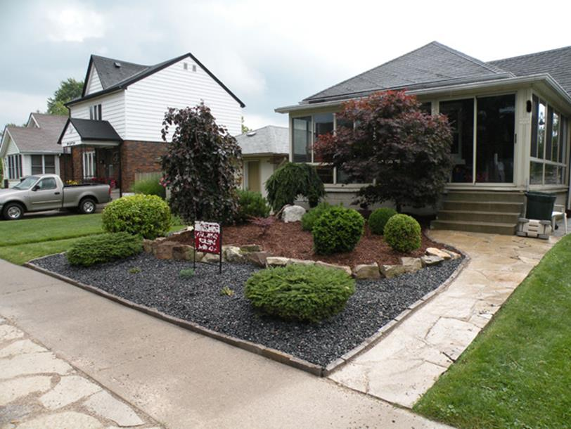 Front Yard Landscaping With Rocks 19