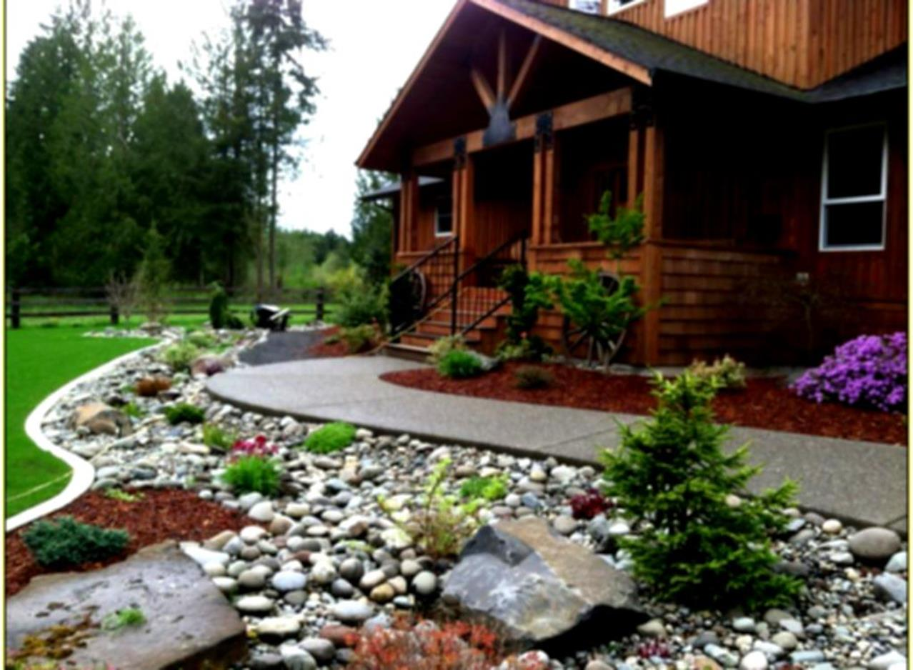Front Yard Landscaping With Rocks 20