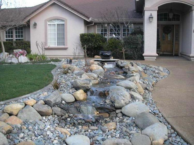 Front Yard Landscaping With Rocks 22