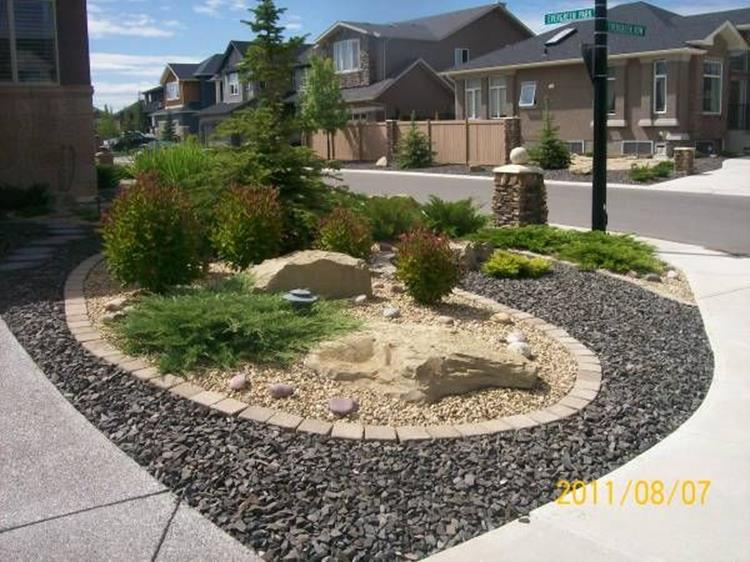 Front Yard Landscaping With Rocks 4