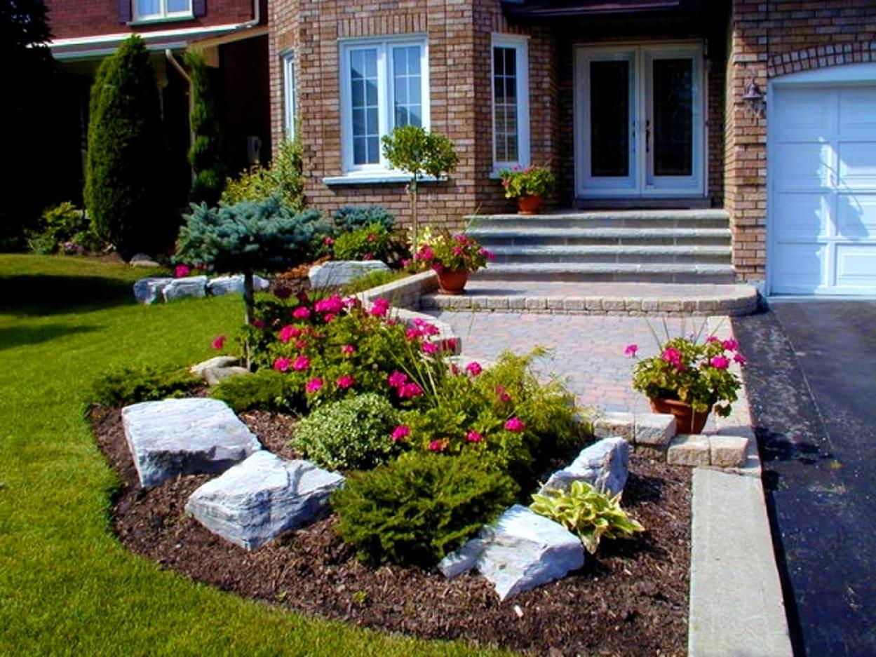 Front Yard Landscaping With Rocks 40