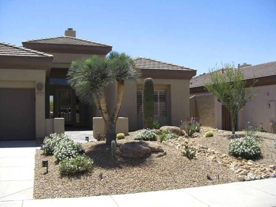 Front Yard Landscaping With Rocks 7