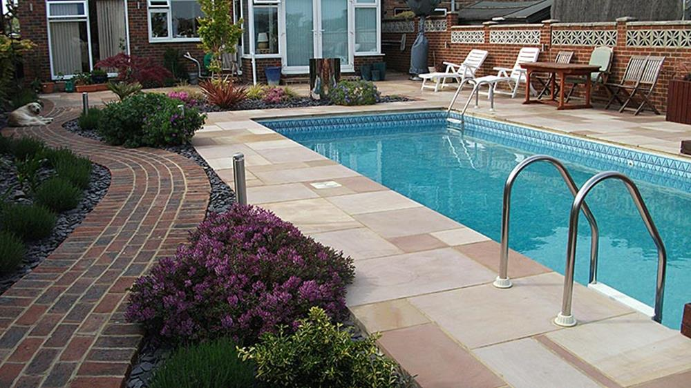 Low Maintenance Landscaping around Pool 12